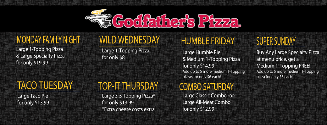 Godfather's Daily Specials